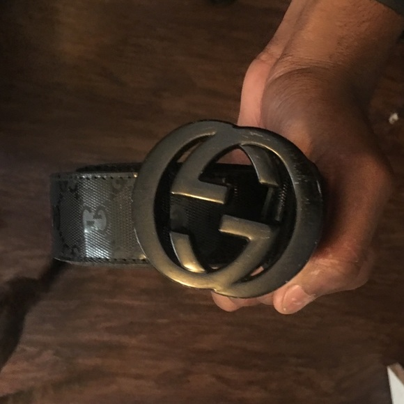 13efb104c Gucci Accessories   Black Mens Belt   Poshmark